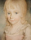 Delightful Portrait Miniature of Girl, by W Smith, 1775