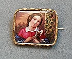 Portrait Miniature Brooch, Biedermeier Period