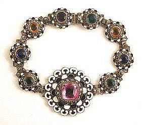 Stunning Austro-Hungarian Demi Parure, Bracelet, Brooch