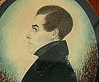 Portrait Miniature of Nathan Burnham by J. H. Gillespie
