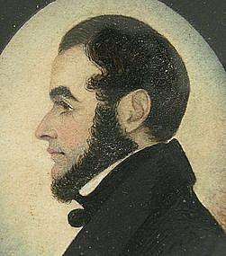 Superb Portrait Miniature by J. H. Gillespie, Gent