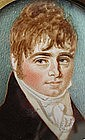Portrait Miniature of Young Gent, att. to Day