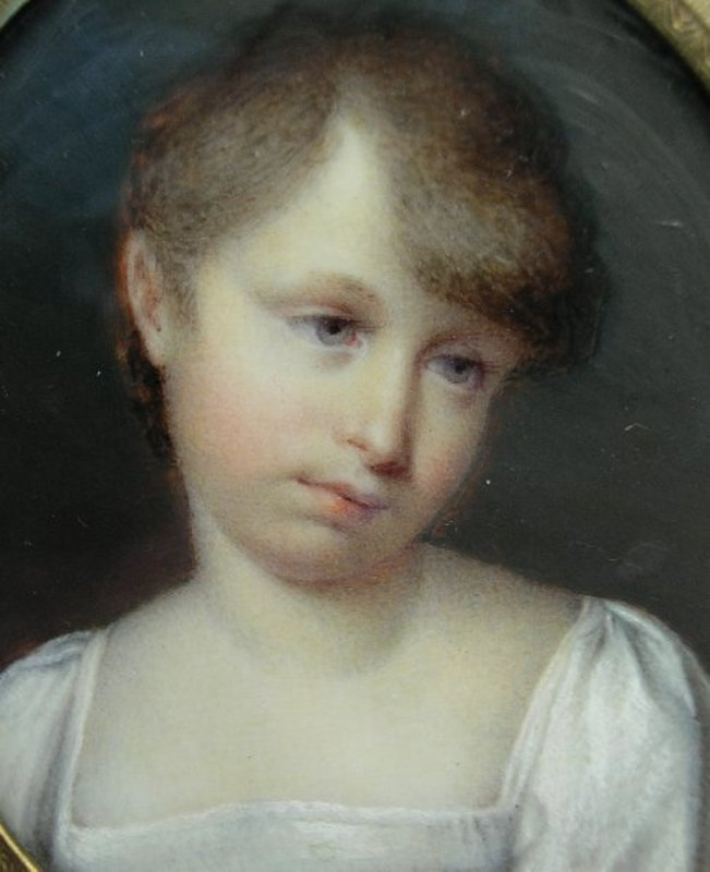 Delightful Portrait Miniature of Young Girl by Jaser
