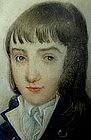Portrait Miniature of Young Boy, c 1790, Shagreen Case