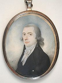 Portrait Miniature of Gent, Signed Lasal