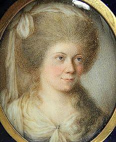 Portrait Miniature of Lady by John Bogle