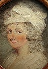 18th C Portrait Miniature of Lady, att. to Shirreff