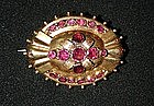Mid Victorian Gold & Garnet Brooch