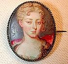 Portrait Miniature in Enamel, French, ca 1720