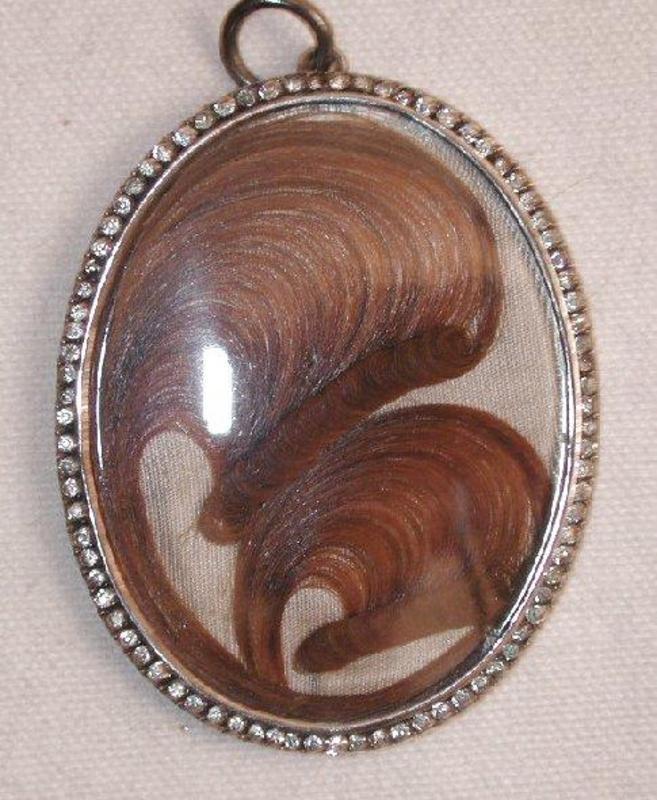 Portrait Miniature of Lady, Paste & Hair