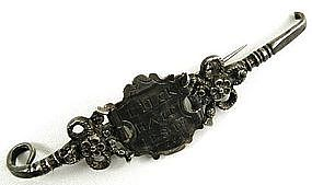Interesting Early 17th C Silver Cloak Fastener Booch