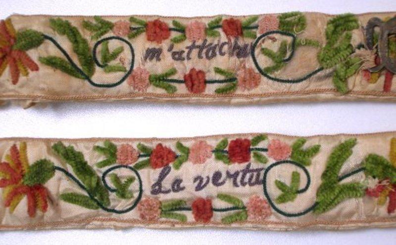 American Embroidered Wedding Garters,1702