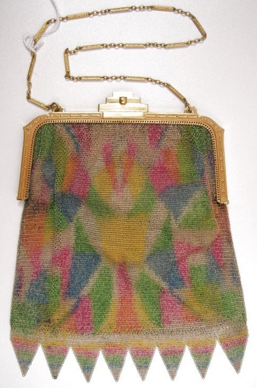 1920's Whiting and Davis Dresden Mesh Purse