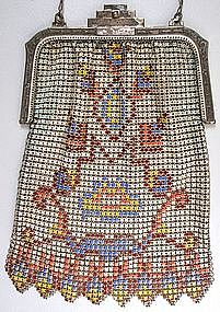 Whiting and Davis Deco Mesh Purse, 1920's