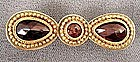 Exquisite 19th C 18K Gold and Garnet Brooch
