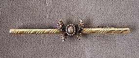 Darling 19th C Diamond & 14K Butterfly Brooch
