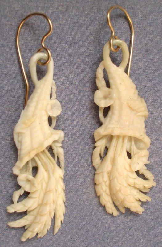 Lovely Victorian Earrings, Cornucopias