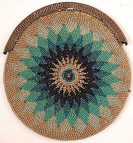 Beautiful Miniature Pie Crust Coin Purse, 19th C