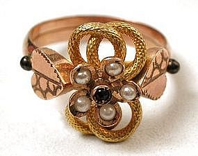 Sweet Victorian 12K Gold Love Knot Ring