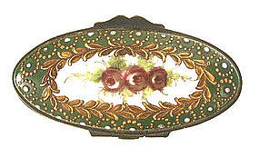 19th C French Porcelain Patch Box