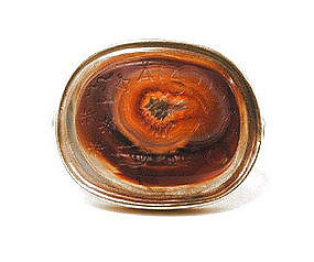 Extremely Fine Agate Intaglio Ring -- Eagle