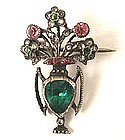 Victorian Giardinetto Paste Brooch