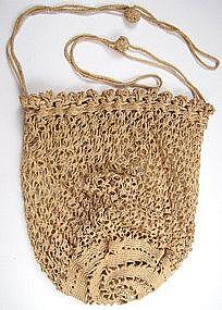 19th C Crocheted Purse
