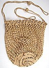 19th C Crocheted Purse