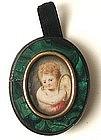 18th C Portrait on Ivory � Charming Cherub!