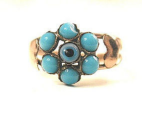 Unusual Victorian Eye Bead Ring