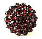 Victorian Bohemian Garnet Cluster Ring