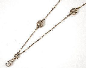 Splendid Sterling Gorham Lorgnette Chain 1910