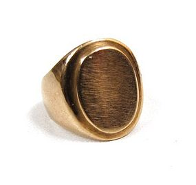 Antique 14k Gold Child's Signet Ring