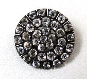 Brilliant Antique Paste Circle Brooch