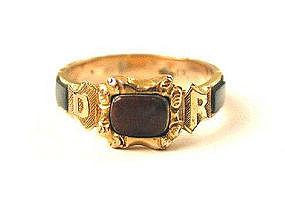 Victorian Scottish Agate REGARD Ring