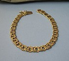 Estate, signed, made in Sweden 18K gold link bracelet