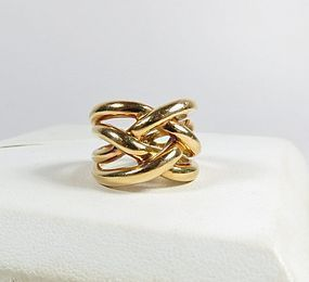 Estate Retired Cartier 18k gold ring