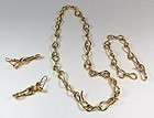 Angela Cummings 18k gold necklace bracelet earrings