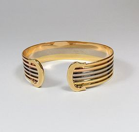 Cartier double C de Cartier Decor Trinity bracelet in 18K gold