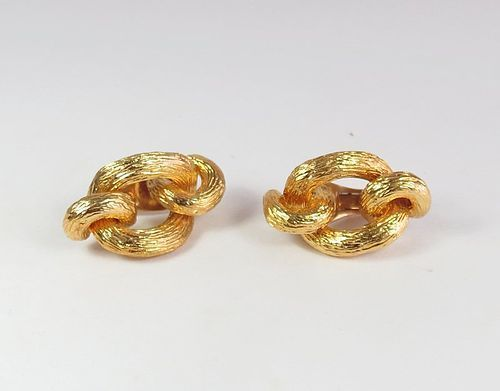 Estate Van Cleef & Arpels 18k gold knot earrings
