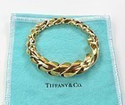 18k yellow gold Schlumberger for Tiffany & Co twisted bracelet