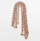 "33"" long, vintage, solid 18k rose gold chain link necklace"
