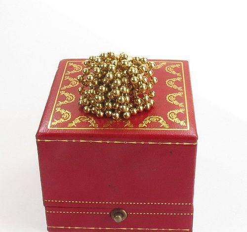 Estate, CARTIER 18k yellow gold Nouvelle Vague Perruque ring
