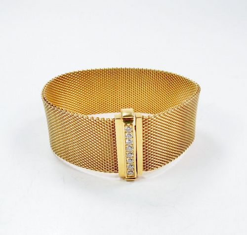 Estate, Tiffant & Co, 18k yellow gold, diamond bracelet
