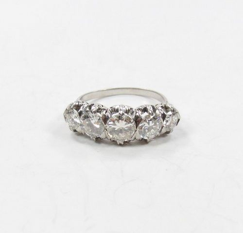 Antique, platinum 2.25ctw diamond wedding ring