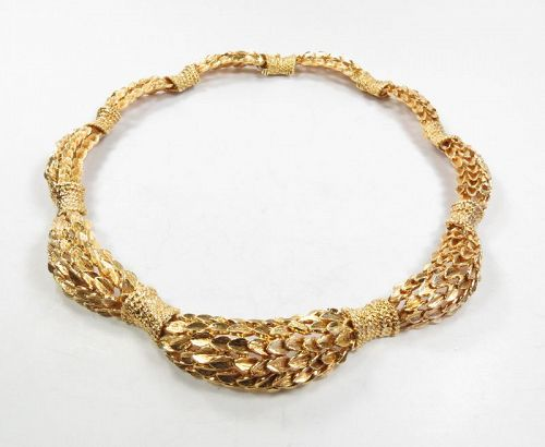 David Webb 1960's Retro 18K Yellow Gold Necklace