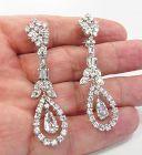 14k white gold, 8.4ctw diamond dangle, chandelier earrings