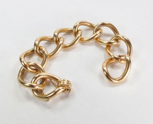 Massive, 14k yellow gold link bracelet 132 grams.