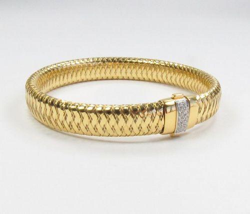 Roberto Coin 18K gold Primavera stretch diamond bracelet