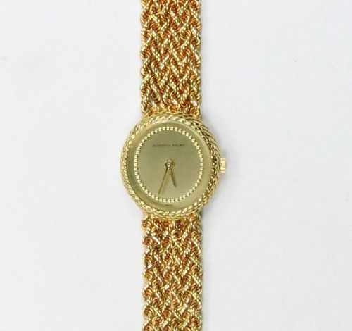 Audemars PIGUET, Swiss, solid 18k gold ladies wrist watch